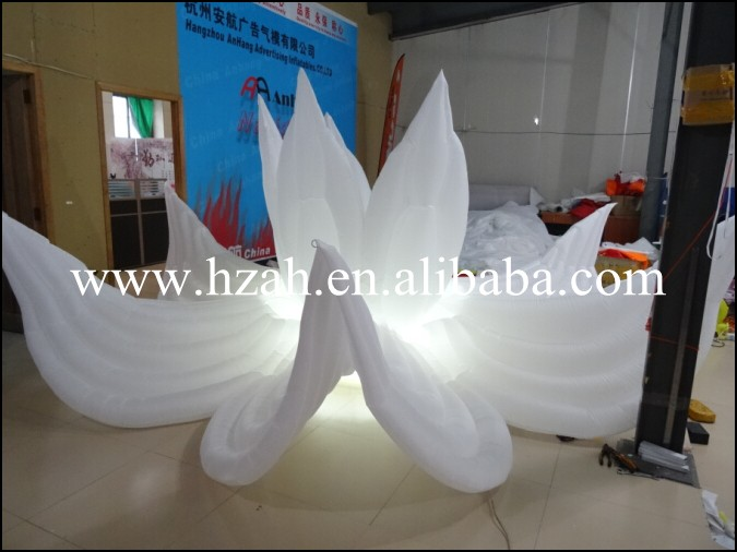 Nice Inflatable White Lotus Flower Inflatable Wedding Flower big wedding inflatable flower nice inflatable artifical flower