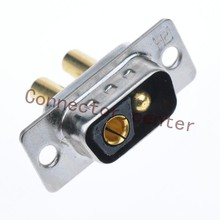 High Power DSUB DB Connector 2V2 male Machined Pin Full Gold Flash Wire Type