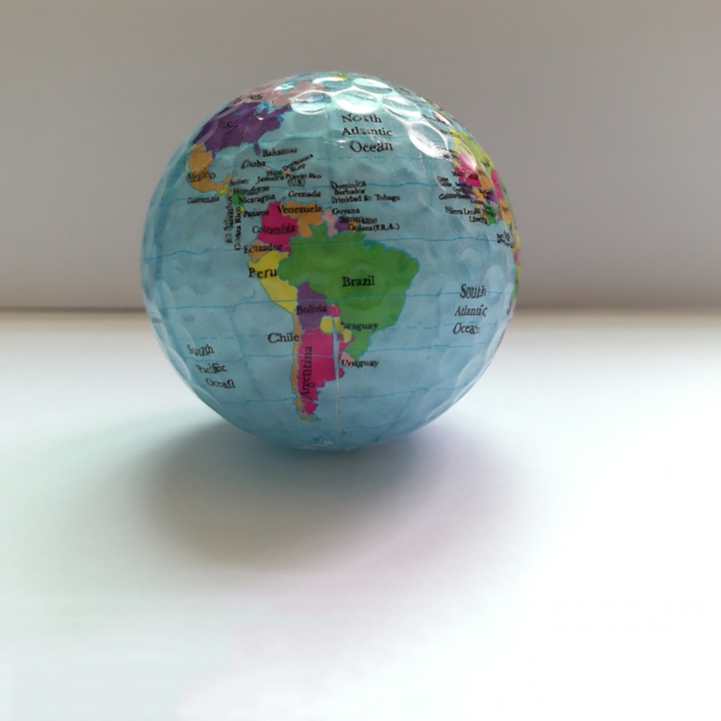 Globe Map Color Golf Balls Practice Golf Balls Golf Gift Balls