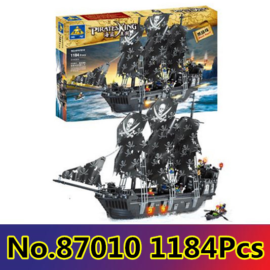 Kaizi Model building kits compatible with lego ship pirates king 3D blocks Educational toys hobbies for children