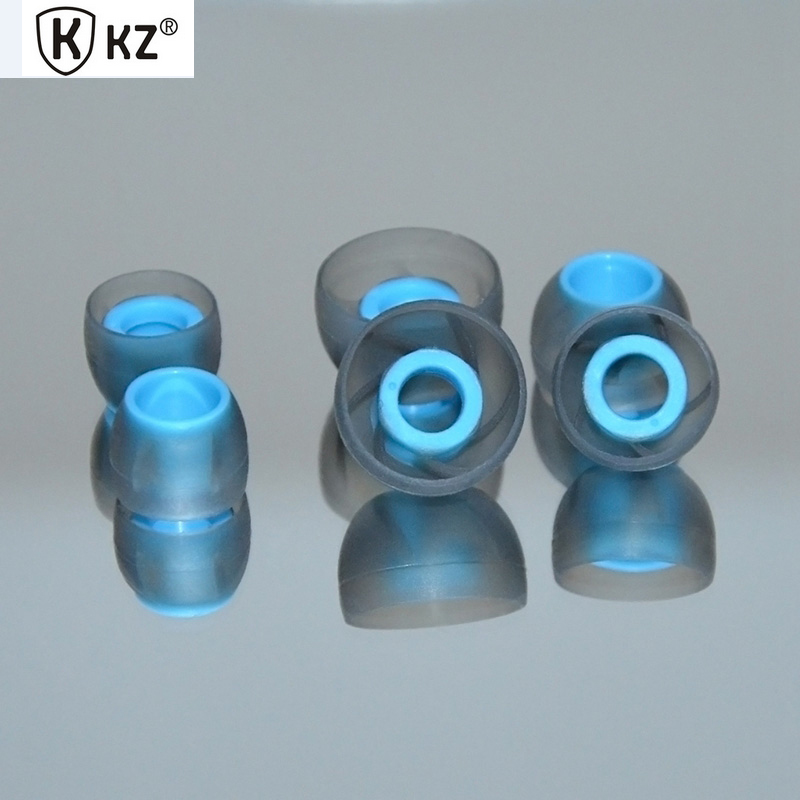 Original KZ Earbuds 3 Pairs(6pcs) L M S In Ear Tips Headphones Ultra-soft Silicone Eartips Earphones Accessories Replacement