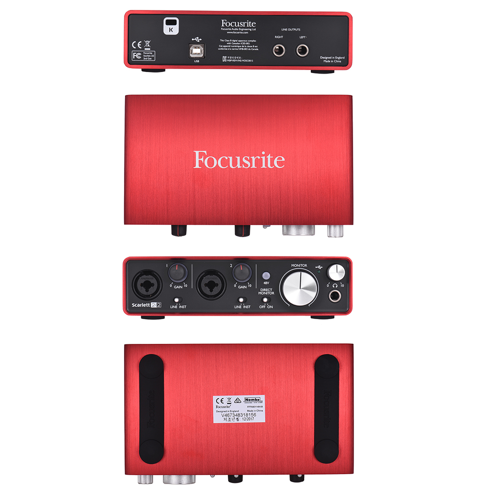 US $161 86 47% OFF|Focusrite Scarlett 2i2 2nd Generation 2 in/ 2 out USB  Audio Interface Sound Card 24bit/192kHz with USB Cable-in Electric  Instrument