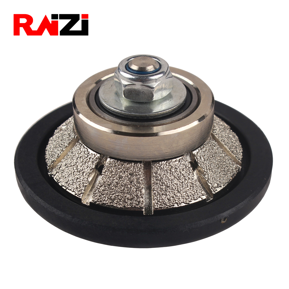 Raizi E Hollywood Bevel Vacuum Brazed Diamond Hand Profiler Granite Marble Profile Wheel 5 8 11