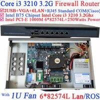 1U network router firewall pc  barebone mit 6 Gigabit 82583 v LAN Intel Core i3 3210 3 2 Ghz Wayos PFSense ROS|firewall pc|network routerfirewall router -