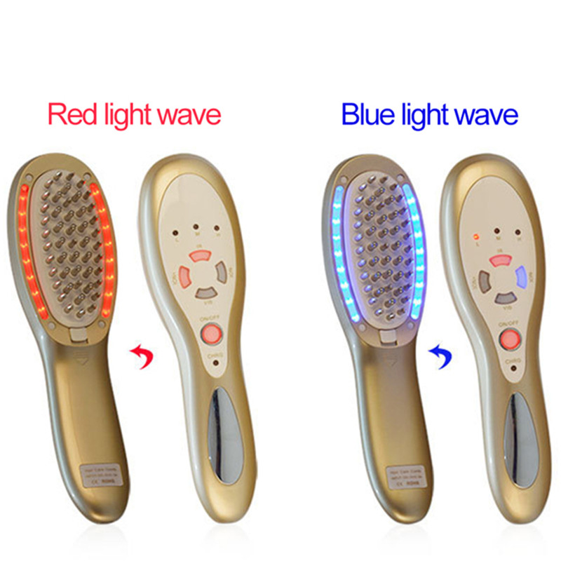 1Pcs Head Massager Massage Comb LED Light Therapy Positive Negative Ions Anti Hair Loss Machine Vibration Hair Growth Products гарнитура marley positive vibration em jh011 dn denim