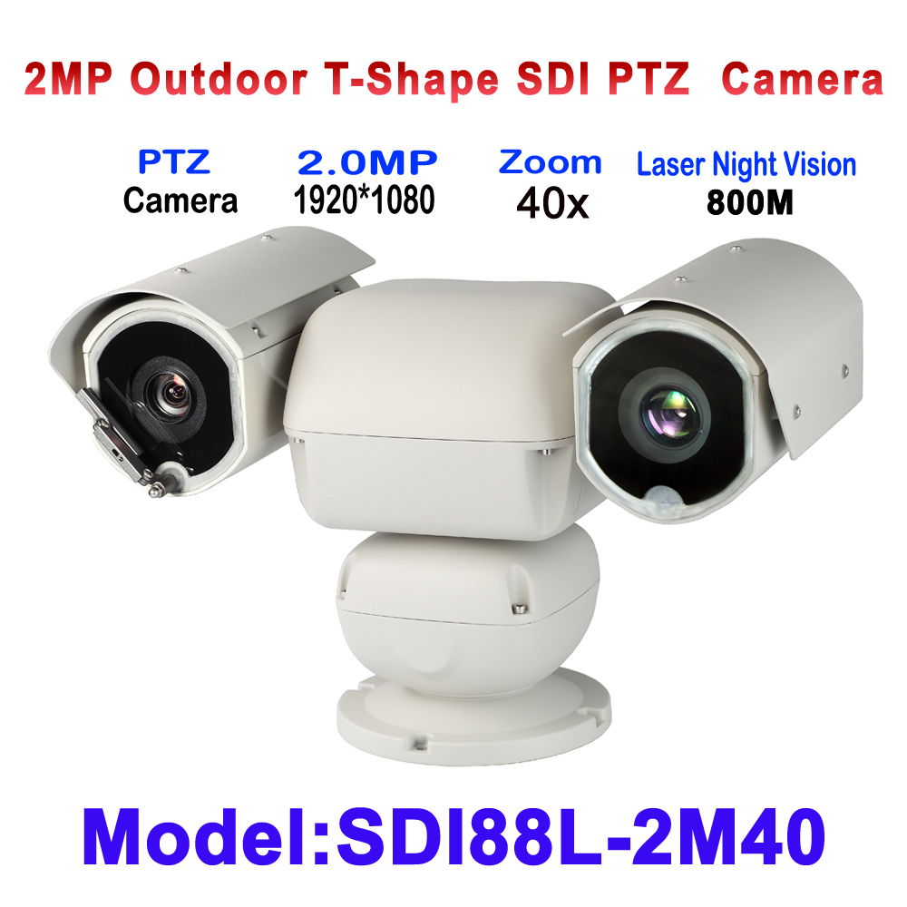 Long Range 800M Laser Heavy duty HDSDI PTZ Surveillance Camera With 6.8-272mm Lens 40X Auto Zoom For Forest/Grassland/airport ys 138no nc ansi standard heavy duty electric strike size 124 x 32 x 33 mm