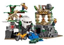 02061 870 шт. новые оригинальные город серии разведка джунглей остаются Building Block кирпич развивающие Игрушки для детей подарок