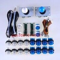 LED Easyget Arcade DIY 2 USB Encoder 2 Joystick 20 Light Push Buttons For Mame Jamma