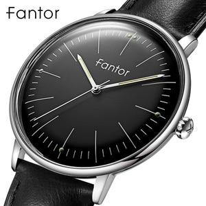 Image 1 - Fantor фирменные Классические минималистичные мужские кожаные светящиеся ручные повседневные деловые мужские кварцевые часы с коробкой