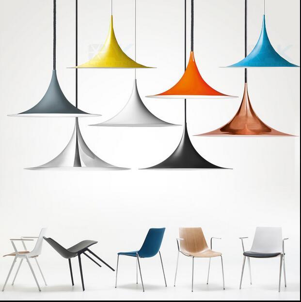 Three small round head restaurant living room modern minimalist Macarons color lamp post modern horn Pendant Lights LO81104 three 100ml