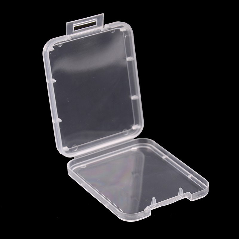 5pcs/lot Memory Card Case Box Protective Case For SD SDHC MMC XD CF Card White Transparent