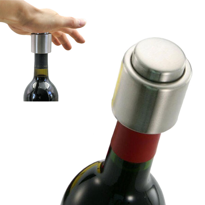 Stainless Steel Sealed Vacuum Wine Champagne Bottle Stopper Sealer Caps Gadget