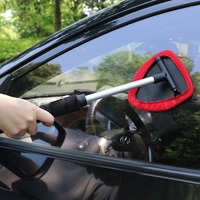 Car Windshield Cleaner Brush Wiper Telescopic Handle Auto Window Glass Washer Soft Towel Brush Car Care Cleaning Tools