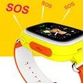 Rastreador gps inteligente telefone do relógio do bebê para crianças criança smart watch Tela de Toque de Chamada SOS Localização Smartwatch PK Q50 Q100 Criança Relógio