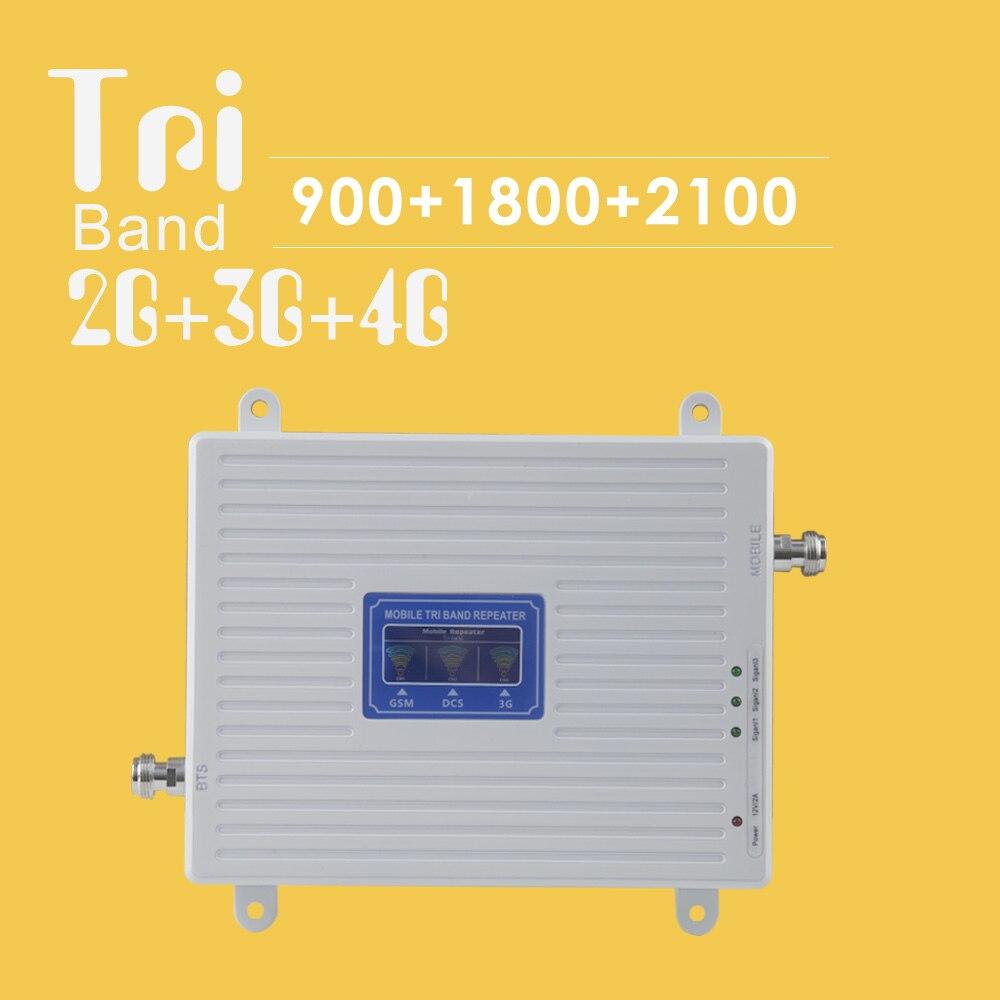 Amplificateur Mobile 2G 3G 4G Tri bande GSM 900 DCS 1800 WCDMA 2100 mhz répéteur de Signal GSM UMTS LTE 4G unité de Booster de Signal cellulaire