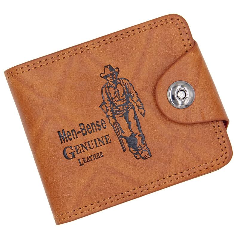 2018 Vintage Wallet Men Leather Men Wallets Purse Causal Leather Wallet Mens Money Bag PU Leather Short Clutch Wallets For Men