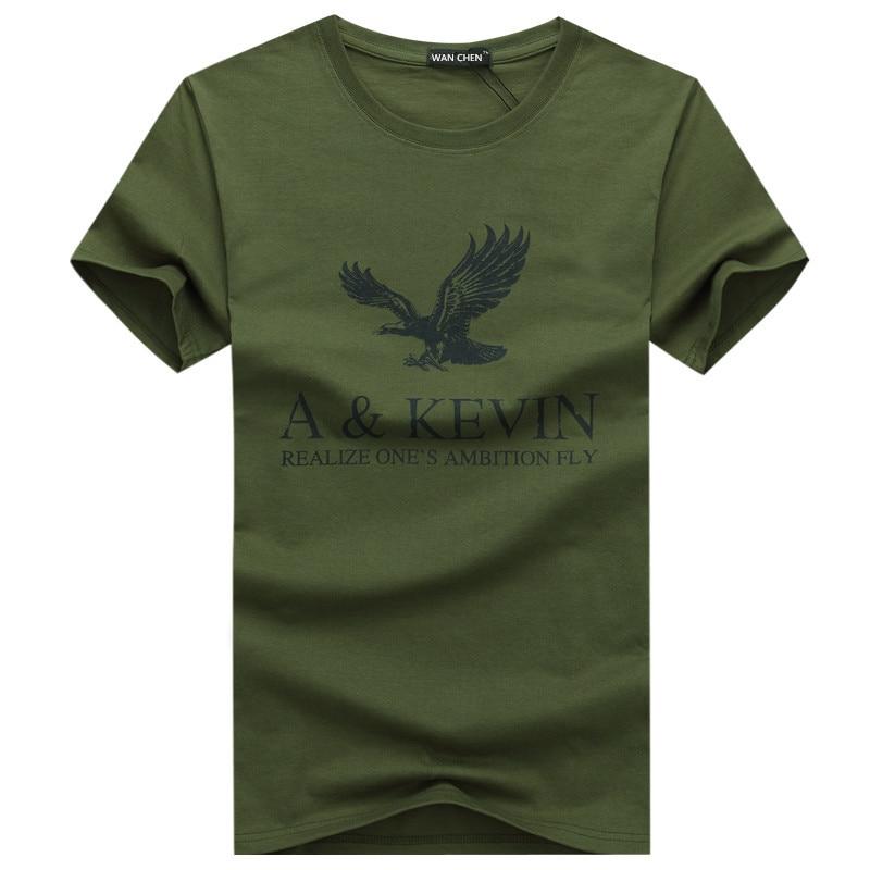 New Pure Cotton Short  Brand T Shirt Men's Large Size T Shirt Slim Fit Fashion Eagle Printed T-shirt Men Plus Size S -5XL