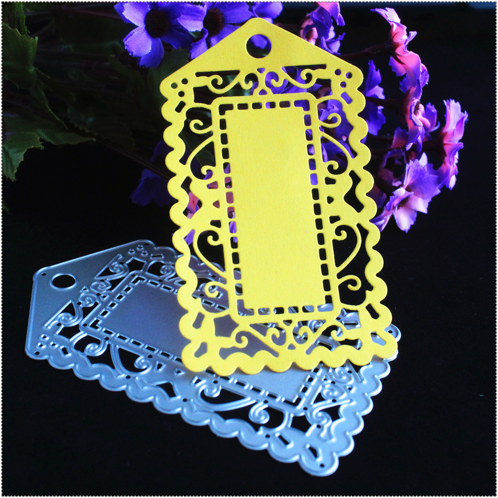 Lovely Luggage Tag Metal Cutting Dies Stencils for DIY Scrapbooking Photo Album Decorative Embossing DIY Paper Cards Crafts