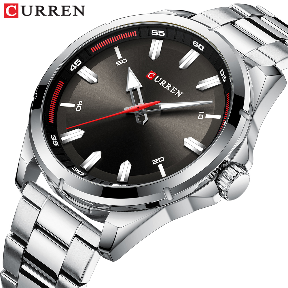 CURREN Fashion Men's Watch With Stainless Steel Strap Simple Creative Quartz Wristwatch For Men Clock Erkek Kol Saati Waterproof