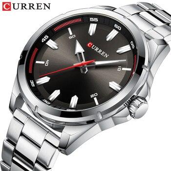 CURREN Fashion Men's Watch with Stainless Steel Strap Simple Creative Quartz Wristwatch for Men Clock erkek kol saati Waterproof - discount item  47% OFF Men's Watches