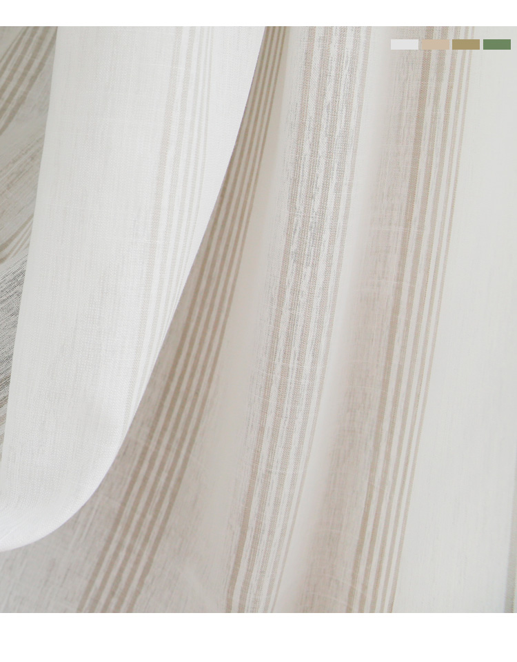 _07 White Tulle Curtains For Livingroom Striped Voile