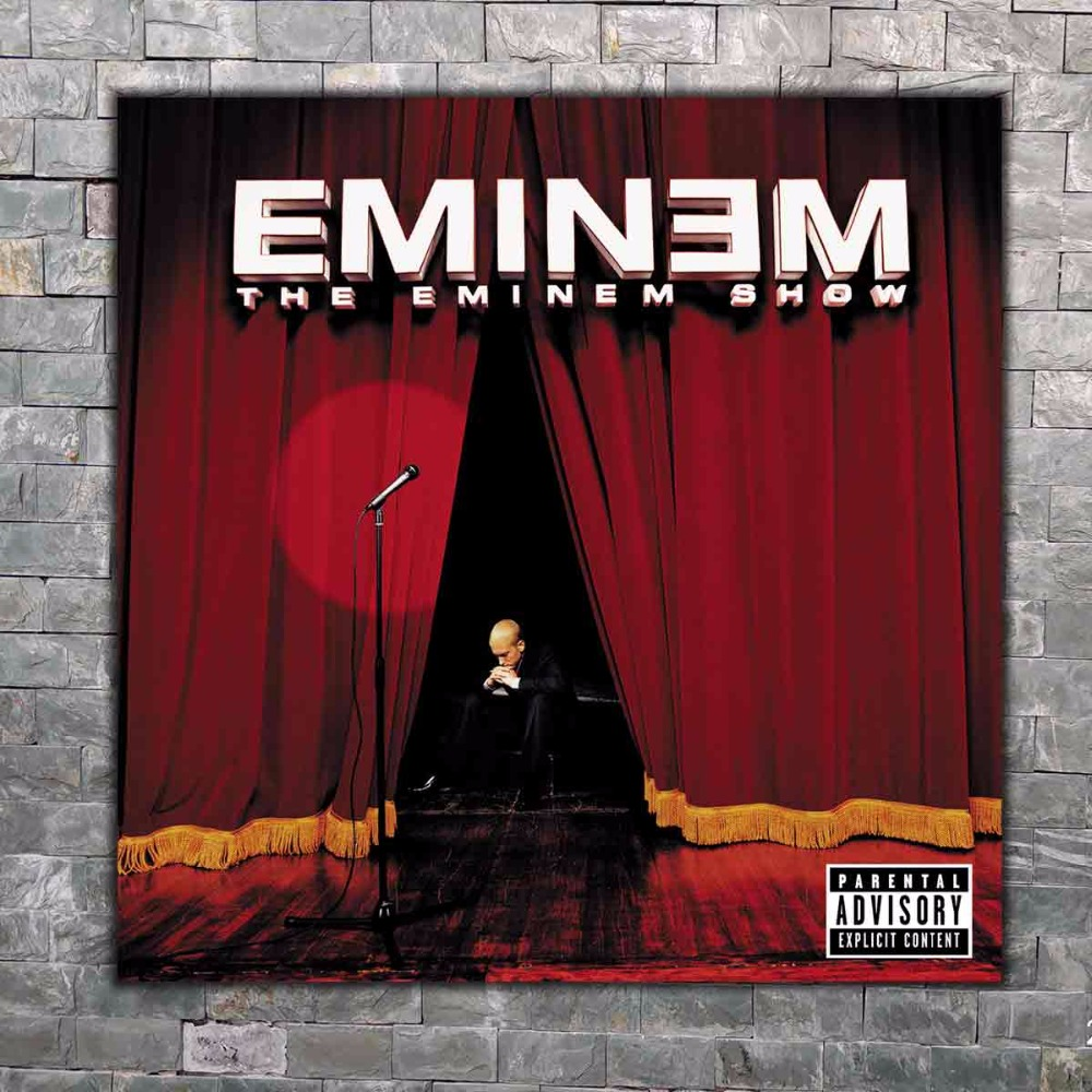 Home Decor S477 The Eminem Show Rapper Hip Hop Music Album 12x12 24x24 27x27 Art Silk Poster Wall Canvas Print Modern Wall Decoration X07 Highly Polished