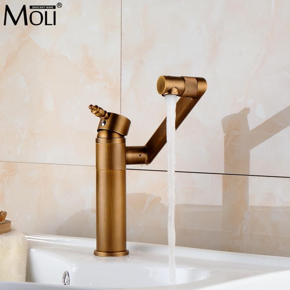 360 gradi di rotazione rubinetto del bagno bronzo antico calda e fredda miscelatore acqua di rubinetto deck mounted rubinetti ML302360 gradi di rotazione rubinetto del bagno bronzo antico calda e fredda miscelatore acqua di rubinetto deck mounted rubinetti ML302