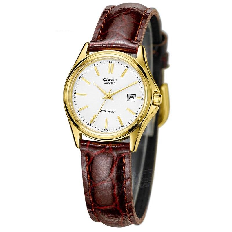 CASIO Watch 2017 Новое Прибытие LTP-1183Q-7A любителей Кварцевые Часы Женщины Часы Кожа Платье Наручные Часы Мода & Casual Часы Золотые