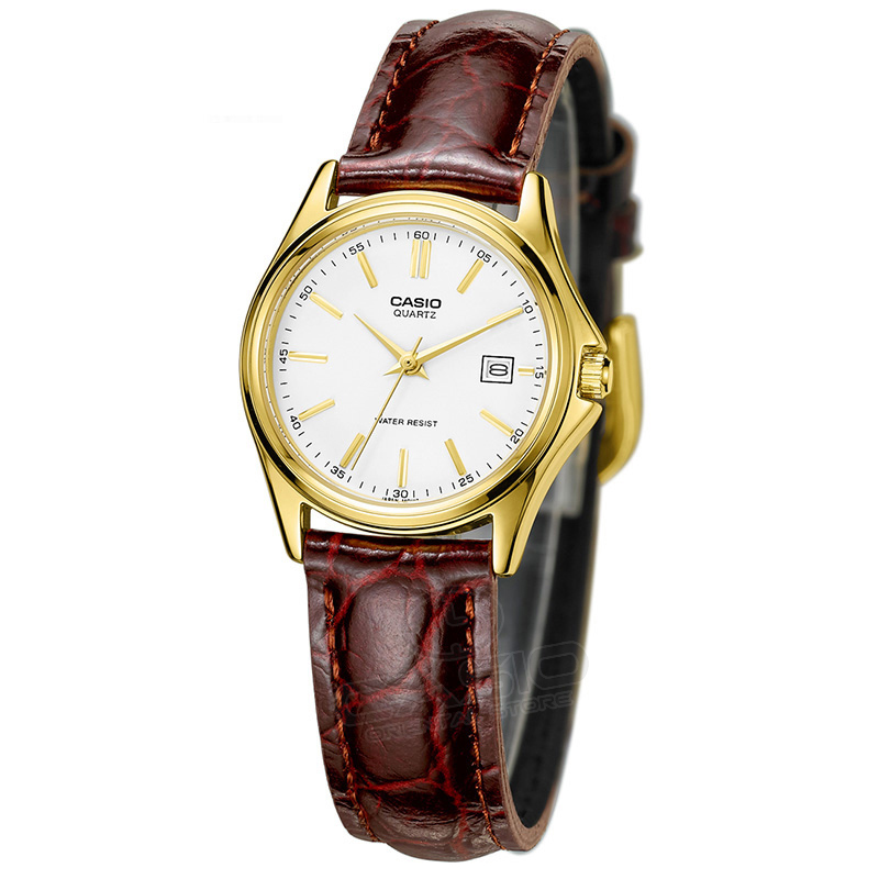 Casio classic Watch 2017 New Arrival LTP-1183Q-7A Quartz Watch Women Leather Dress Wristwatch Fashion&Casual Gold Clock LTP-1183 цена и фото