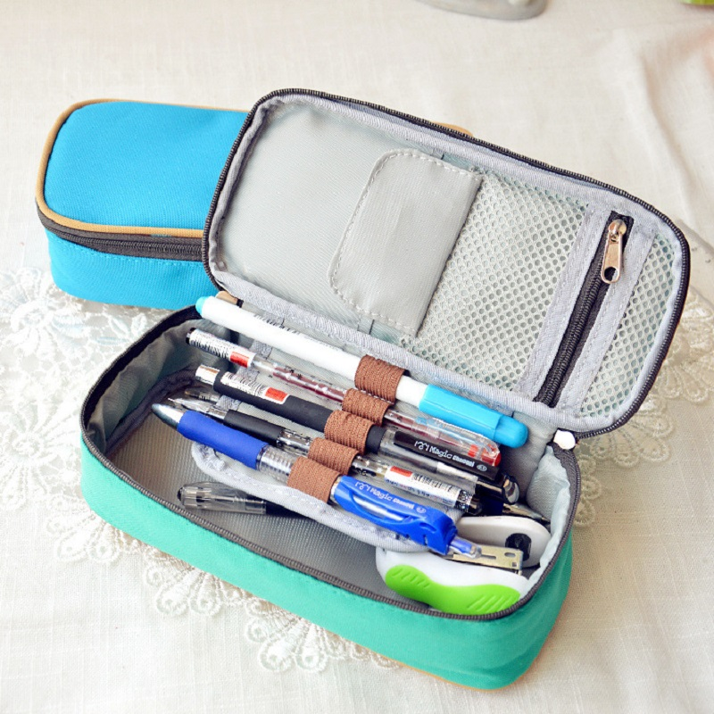 NOVERTY Large capacity multifunctional canvas pencil cases boys girls stationery bags for school supplies material escolar 04803 women make up cases small cosmetic bags child girls boys stationery school supplies