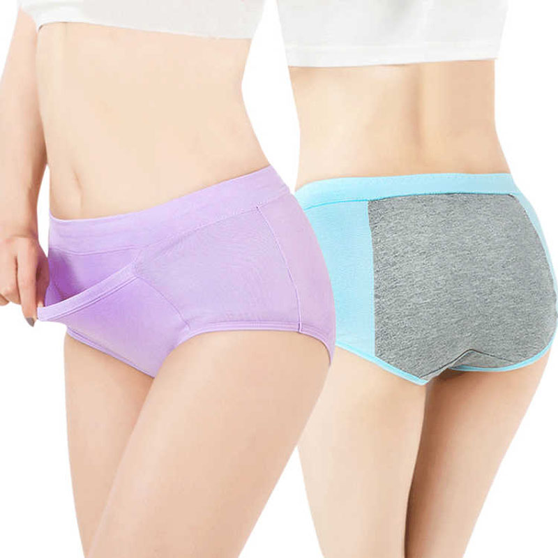 Women Physiological   Panties   Lady Leak Proof Menstrual Period Pants Broadened Sexy Underwear Healthy Cotton Briefs Girls Briefs