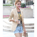 New Womens Blazer Jacket Suit Work Casual Basic Long Sleeve Button Jacket Blazer cardigan tops Outwear free shipping