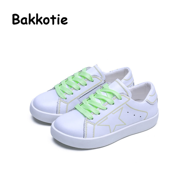 Bakkotie 2017 Novas Crianças Moda Primavera Outono Baby Boy Casual Marca Garoto Respirável Lazer Treinador Esporte Sapato Sneaker Menina