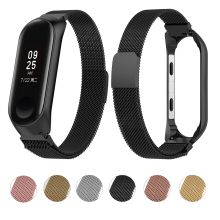Essidi Milanese Strap for mi band 3 Bracelet Smart fitness band replacement for xiaomi mi band 3 stainless Steel Magnetic Strap