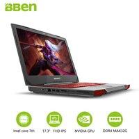 17 3inch Gaming Laptop 32GB 256GB SSD 2TB HDD Quad Cores Intel I7 7700HQ Wifi GTX1060