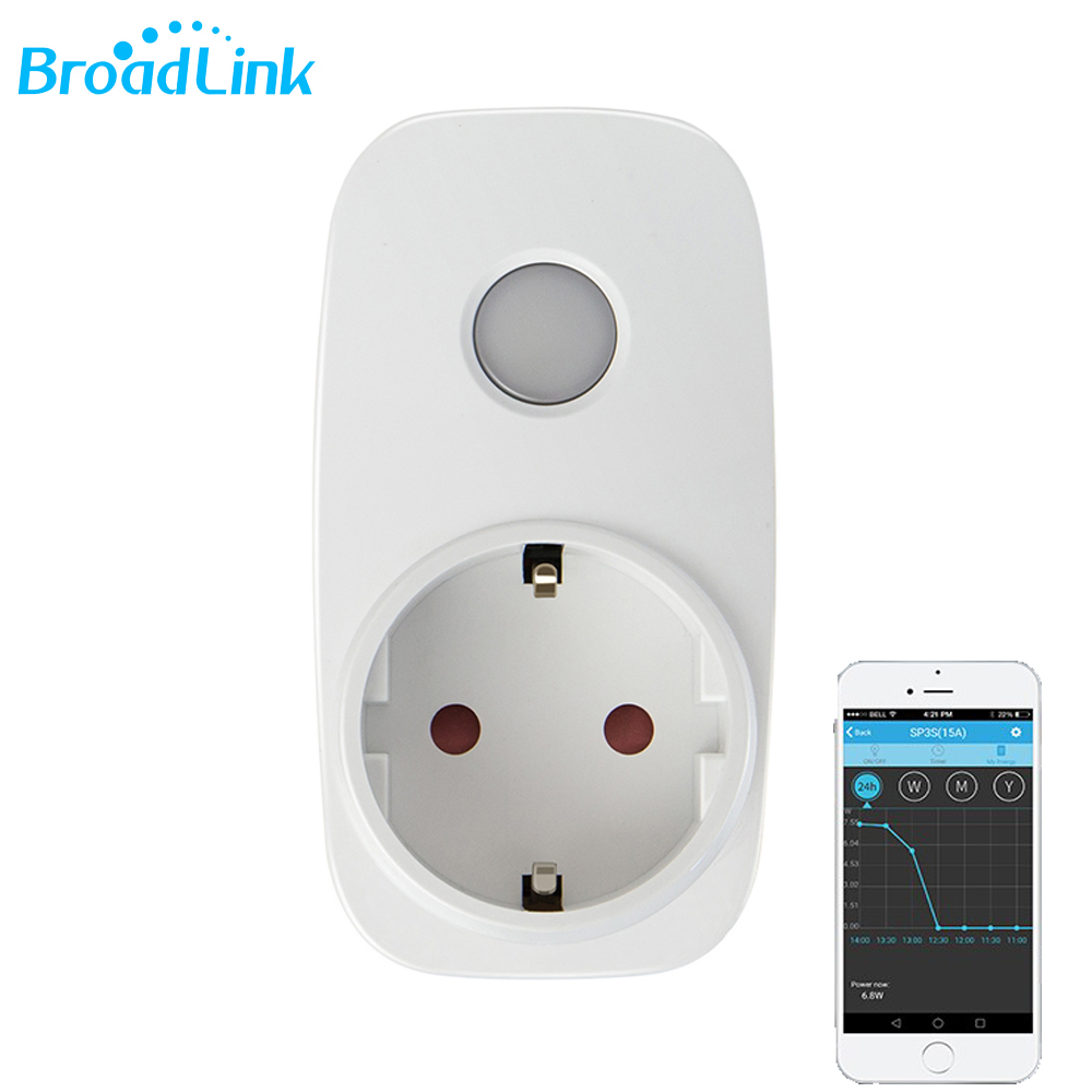2018 Original Broadlink SP3S Mini Energy Monitor Smart Wireless WiFi Socket Remote With Power Meter Control By IOS Android Phone цены
