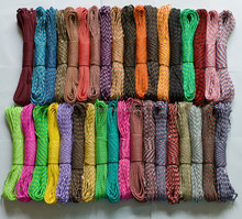 2016 Real Fire Starter 100 Pcs/lot New 550 Paracord Parachute Cord Lanyard Rope 7 Strands Cores  Free Fedex Shipping