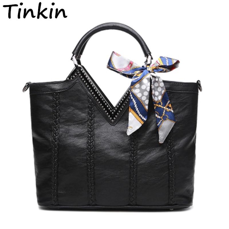 Tinkin European And American Style Sequined Linen Lock Soft Women Handbag New Ar