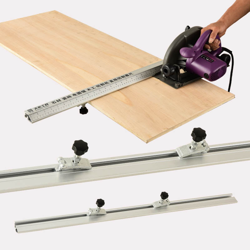 Electric Circular Saw Cutting Machine Guide Foot Ruler Guide 3 In 1 45 Degrees Chamfer Fixture Woodworking Tools 92/112/130cm