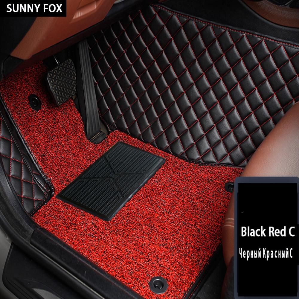 Tapis de sol de voiture pour Nissan Qashgai Rouge x-trail Murano Altima Sentra 5D tapis de voiture