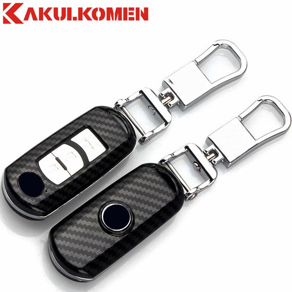 Car styling Auto key fob cas de couverture ensemble protéger pour Mazda 2 mazda 3 mazda 5 mazda 6 CX-3 CX-4 CX-5 CX-7 CX-9 Atenza Core-aile