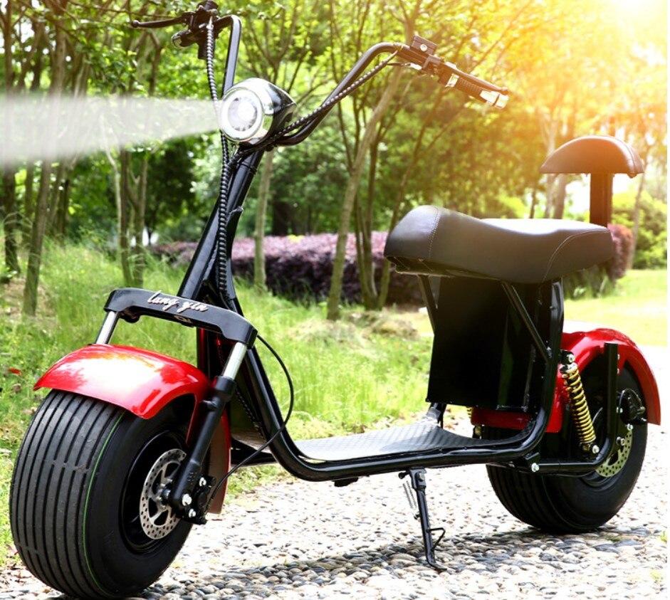 Électrique batterie au lithium Citycoco Scooter 1000 W 60 V motos électriques Moto Electrica Haute Intelligence