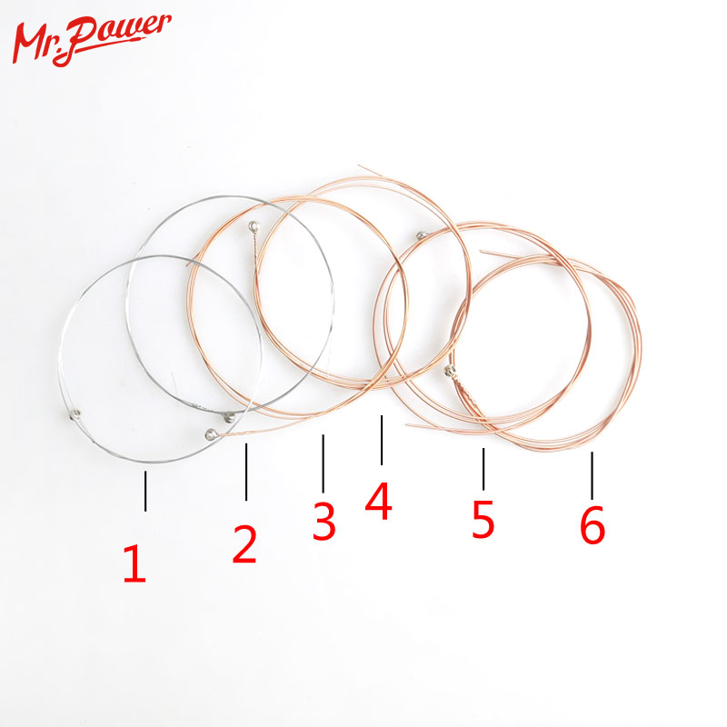 6 pcs/ Set Acoustic Guitar String Silver Pure Strigning for Guitarra Strings Acoustic Guitars 10 hannabach nylon classical guitar strings 600 & 800 silver plated 728 custom made 815 silver special 825 pure gold 850 psp
