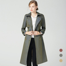 2018 Autumn and winter New British Style Dignified  Loose Windbreaker B1