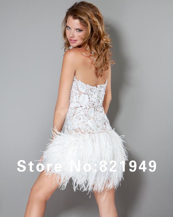 Aliexpress.com : Buy Sexy mini sweetheart black and white fringe ...