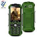 ZOYU Mobile phone 2GDual SIM card Waterproof and dustproof TV phone FM Radio for Flashlight phone 3800mAh power bank Cell phone