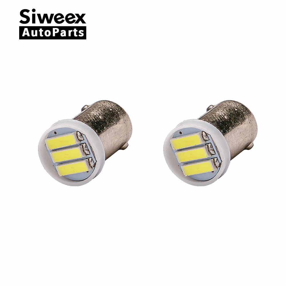 High Power 2pcs 12V auto Car Interior LED Clearance Light BA9S T4W 3 SMD 1W White Auto Backup Reserve Bulb styling lamp bulb sig