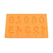 Силиконовая форма для торта, леденец, форма для леденцов, конфет, шоколада, форма для выпечки, инструмент для выпечки 0-9, форма для выпечки, форма для силиконовых форм, для помадки, L* 5