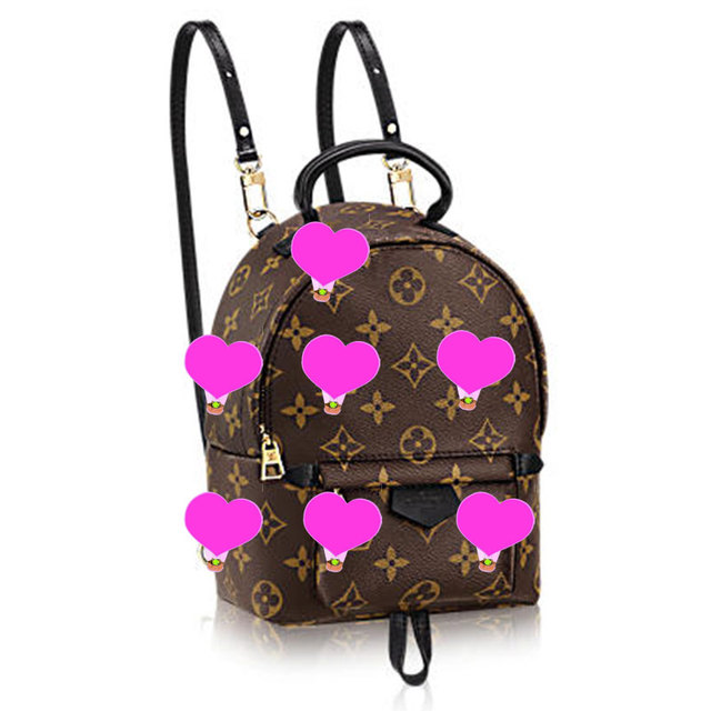 a33fe176555dc women bag LVM41562 palm springs backpack mini monogram canvas fashion shows  M41562 PM2 Front view
