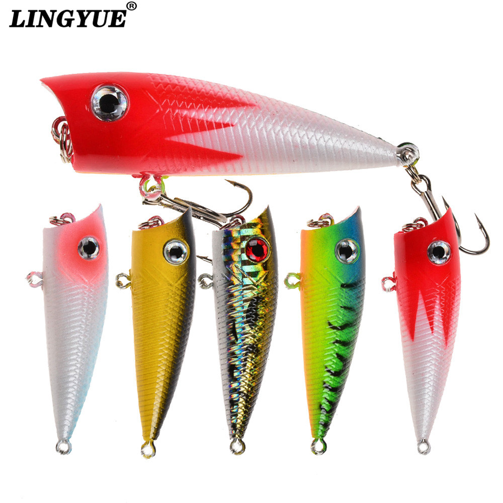 1pc small popper fishing lures good quality painting topwater artificial bait 6cm/6.5g wobblers